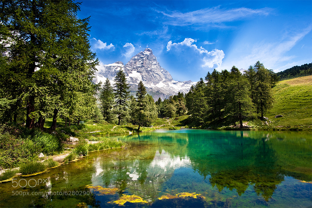 Photograph Blue Lake by Marco Carmassi on 500px