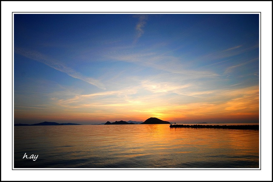 Photograph Sunset in Turgutreis by HUSEYIN AY on 500px