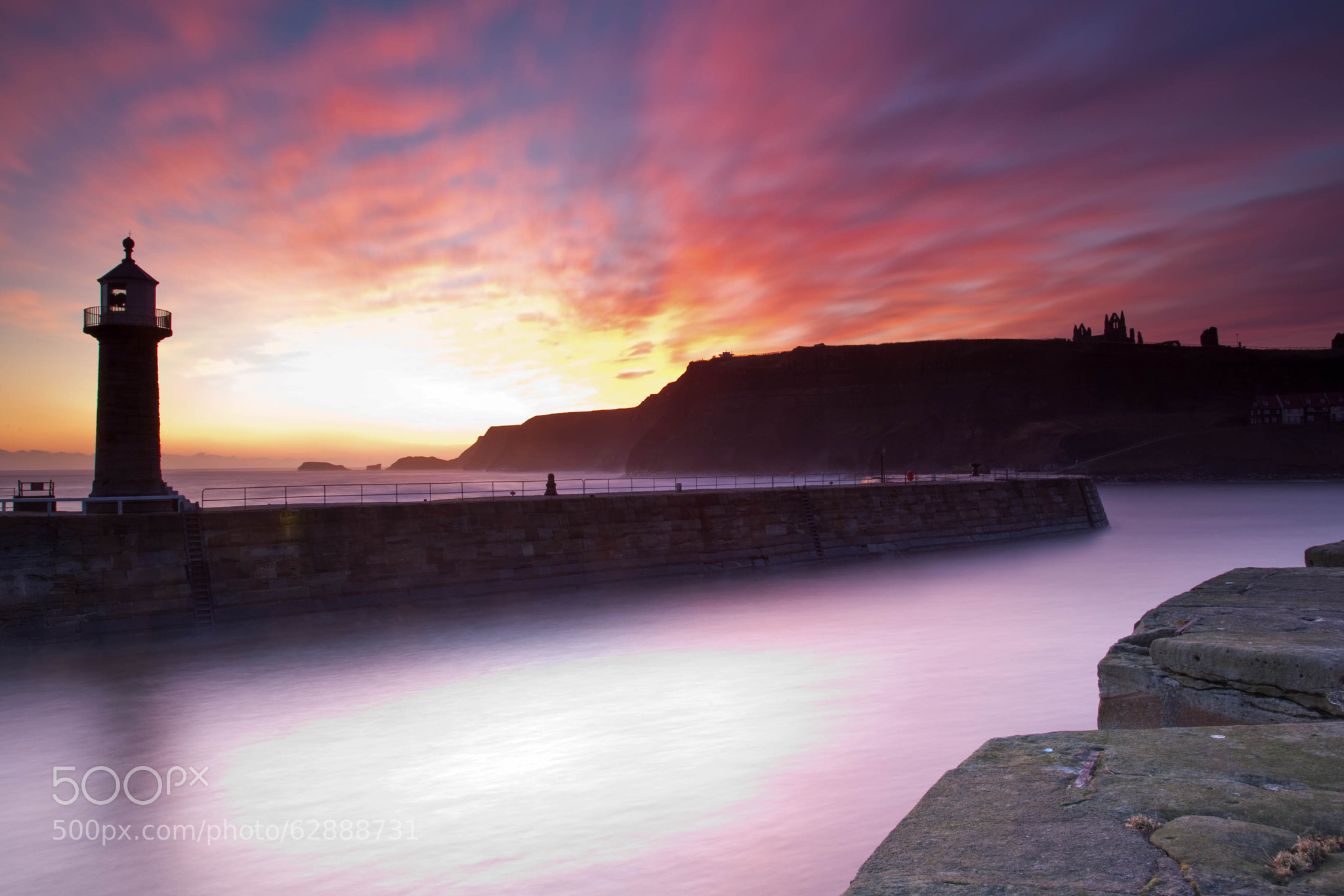 Photograph Whitby Harbour Sunrise by Carl Mickleburgh on 500px