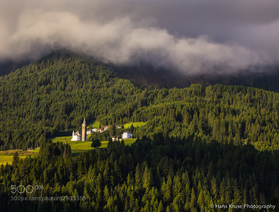 I believe this is the church in Moe and the photo was shot in the days before the Dolomites East September 2013 photo workshop. There are two more photo workshops int he Dolomites East with space available in 2014.