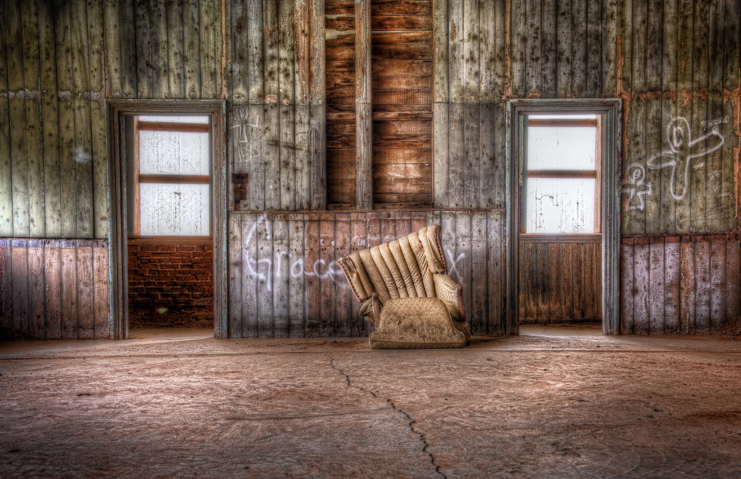 Photograph Two Doors and a Chair by Scott Norris on 500px