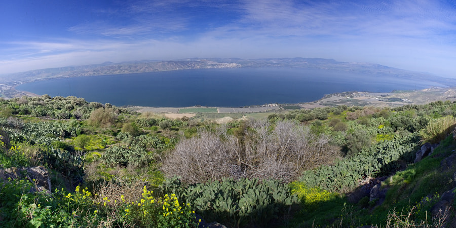 [207] The Kinneret - Sea of Galilee from the Golan Heights. by Ricky Marek on 500px.com