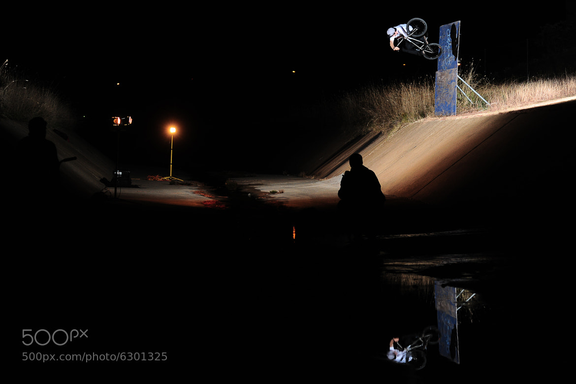 Photograph Zac Miner wallride to table by Cooper Brownlee on 500px
