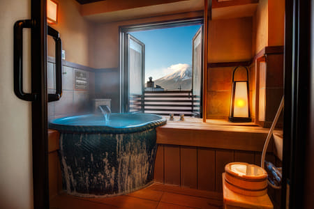 Private Bath with Mount Fuji View by Kimberly Potvin on 500px