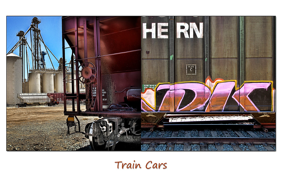 Diptych Series:  Train Cars