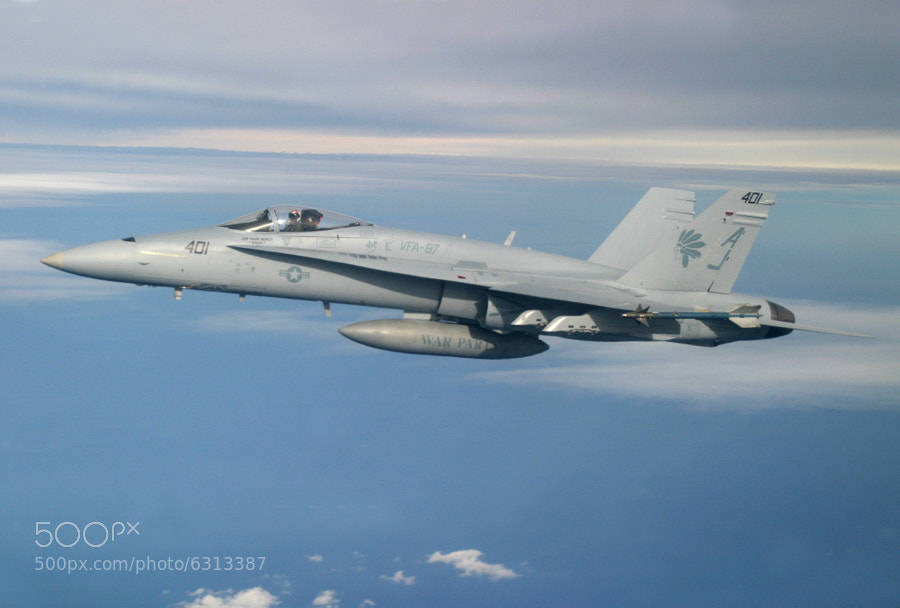 F/A-18A+ assigned to the War Party of VFA-87
