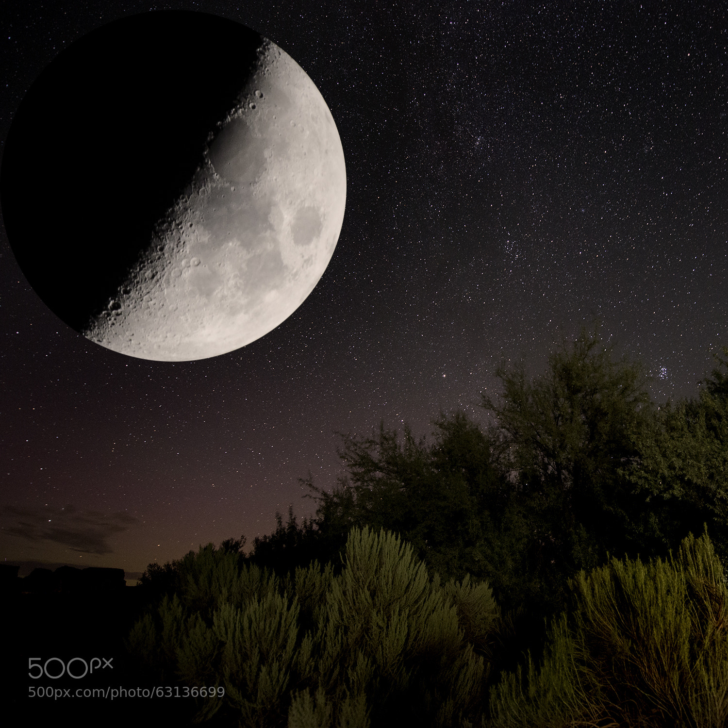 Photograph Moon over Sun Lakes by Tobias Smith on 500px