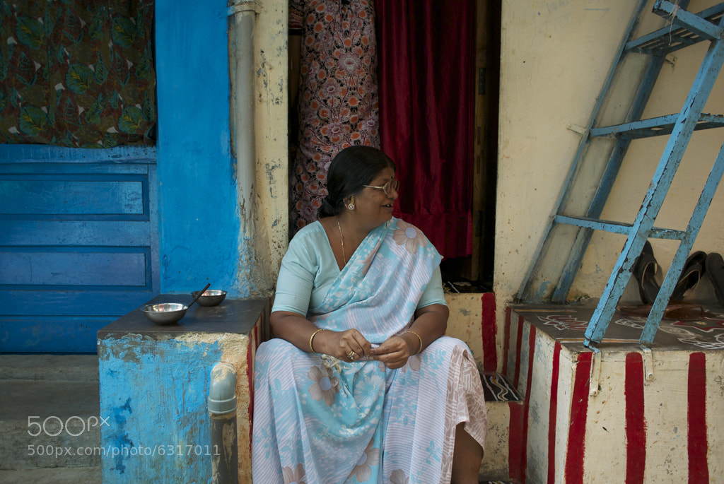 Photograph Sitting on Her Stoop by Blindman shooting on 500px