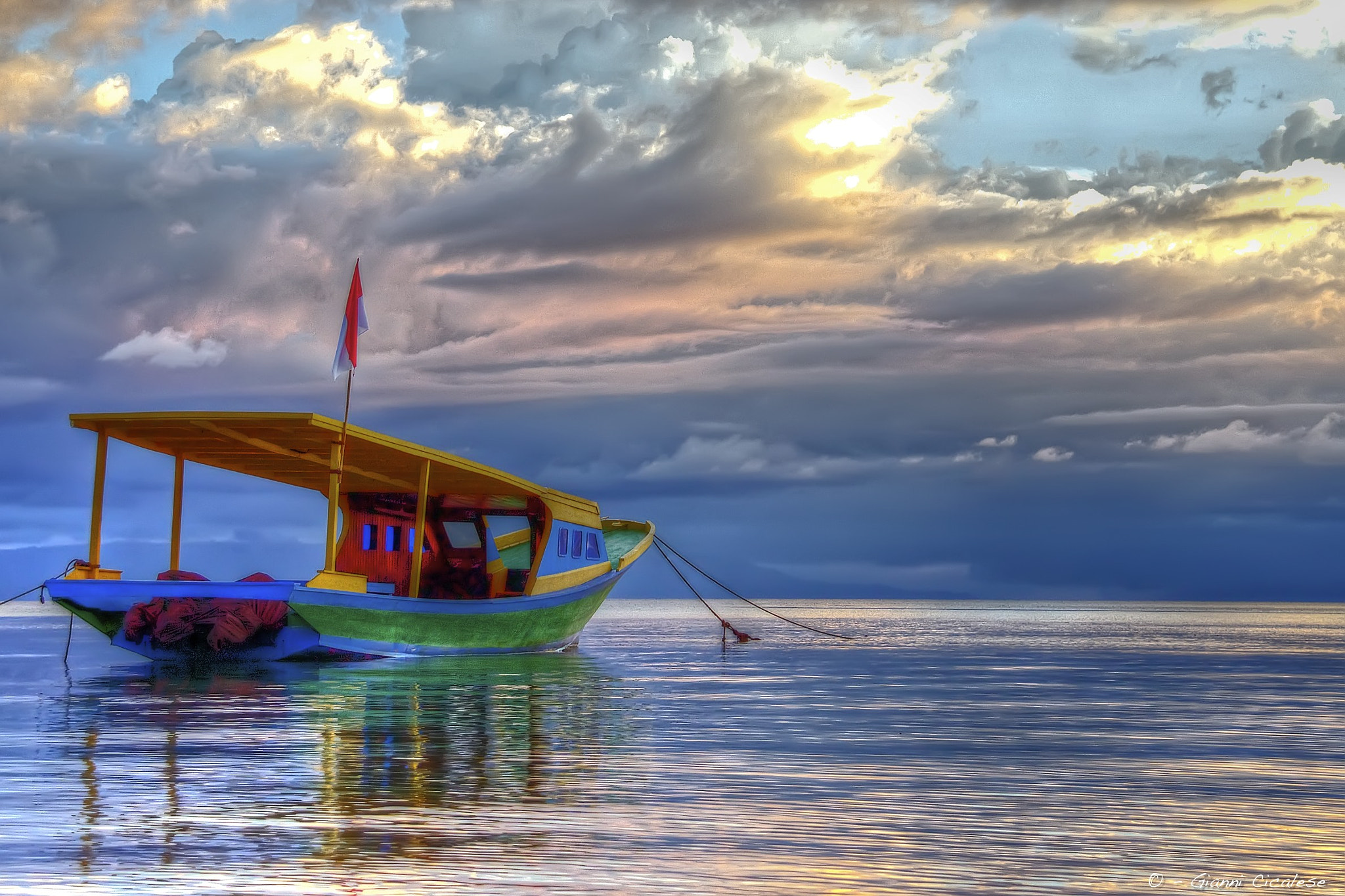 Photograph Boat Sunrise in Bunaken by Gianni Cicalese on 500px