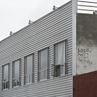 A building in the Downtown, Los Angeles area that had updated with metal on the front.