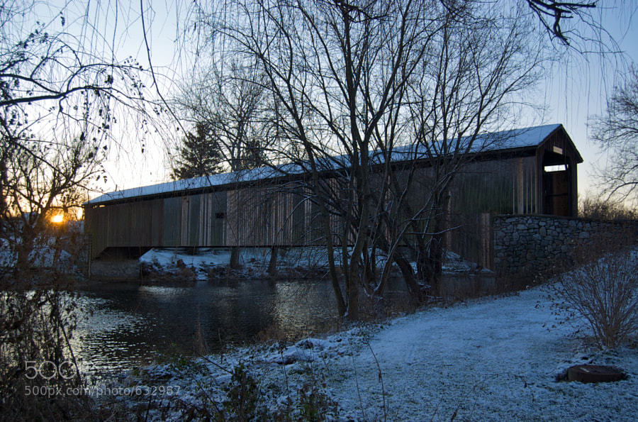A covered bridge in Lancaster County, Pennsylvania.