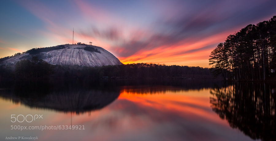 Photograph Stone Mountain Sunset by Andrew Kowalczyk on 500px