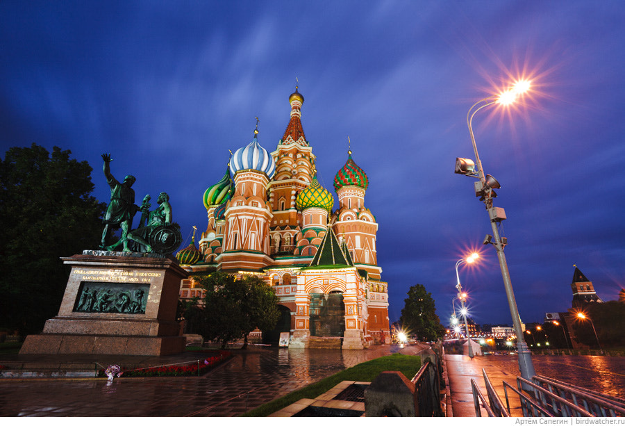 Photograph Saint Basil's Cathedral at Night by Artem Sapegin on 500px