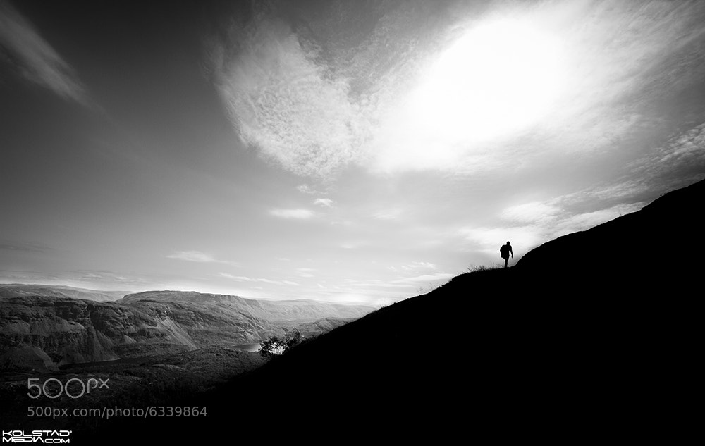 Photograph Hiking Silhouette by Eivind Kolstad on 500px