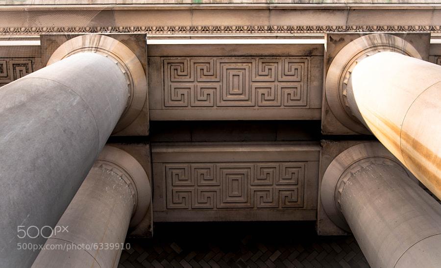 Toronto's Union Station Columns still grace the station's main entrance.
