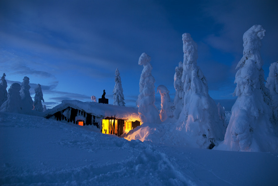 Warmth by the Winter Cabin by Hälsing Nordin on 500px.com