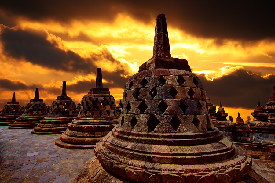 Borobudur by Henk Langerak on 500px.com