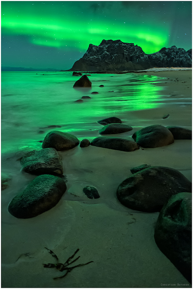 Photograph Northern Lights On The Beach by Christian Ringer on 500px