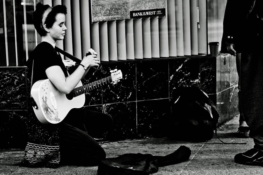 Photograph Street musician by Carlos Aledo on 500px