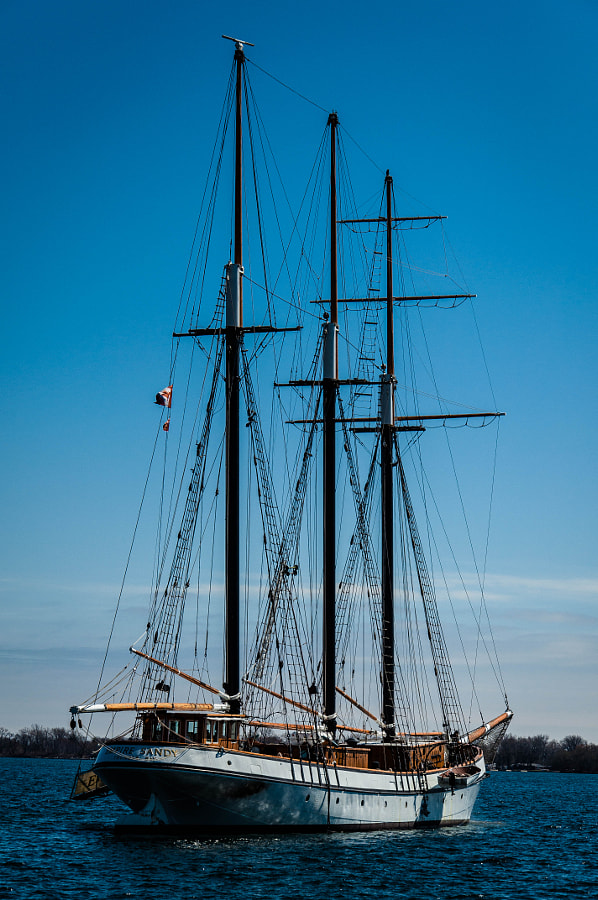 Tall ship in Toronto harbour.
