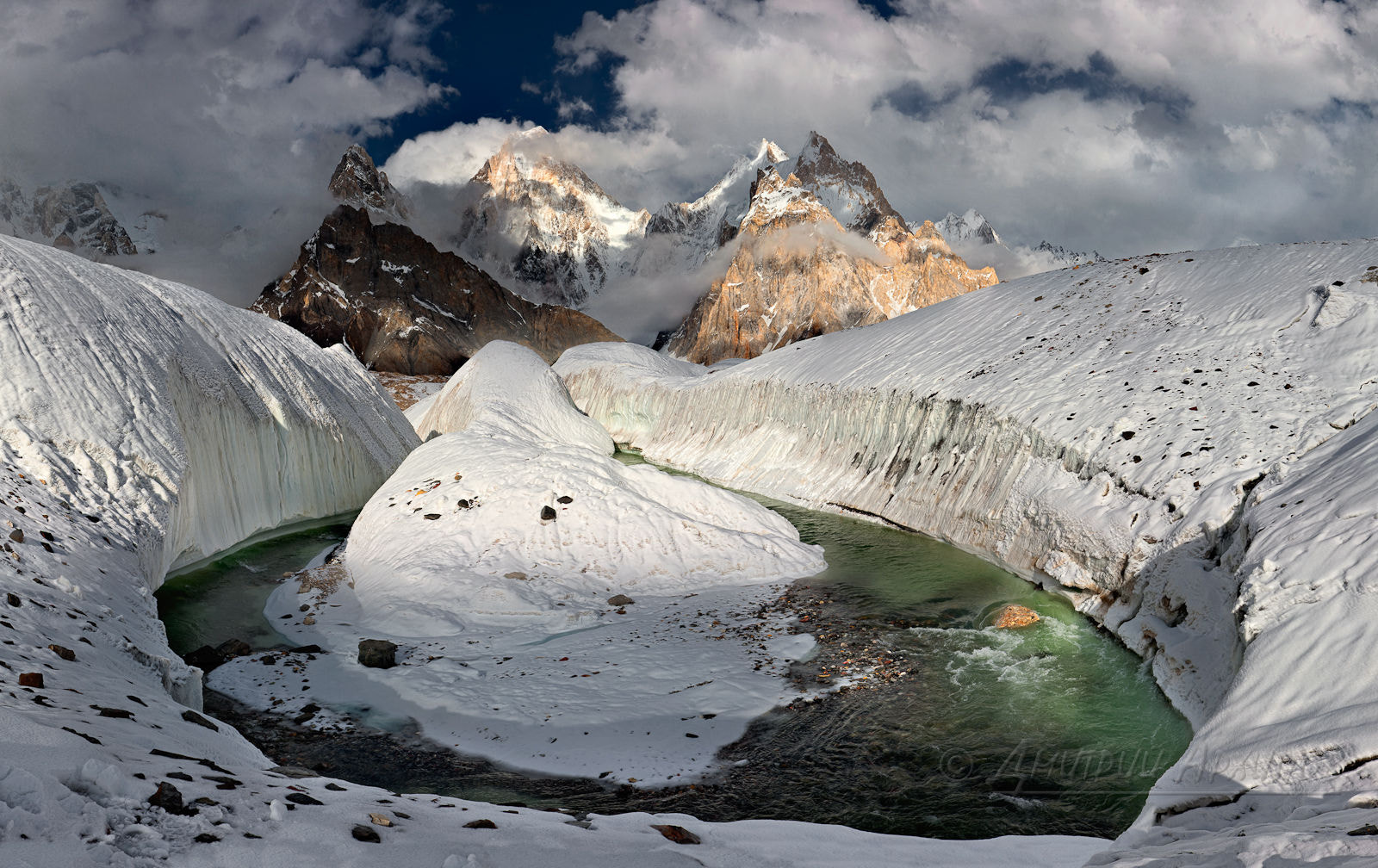 Photograph Ice horseshoe with Gusherbrum view by Dmitry Arkhipov on 500px
