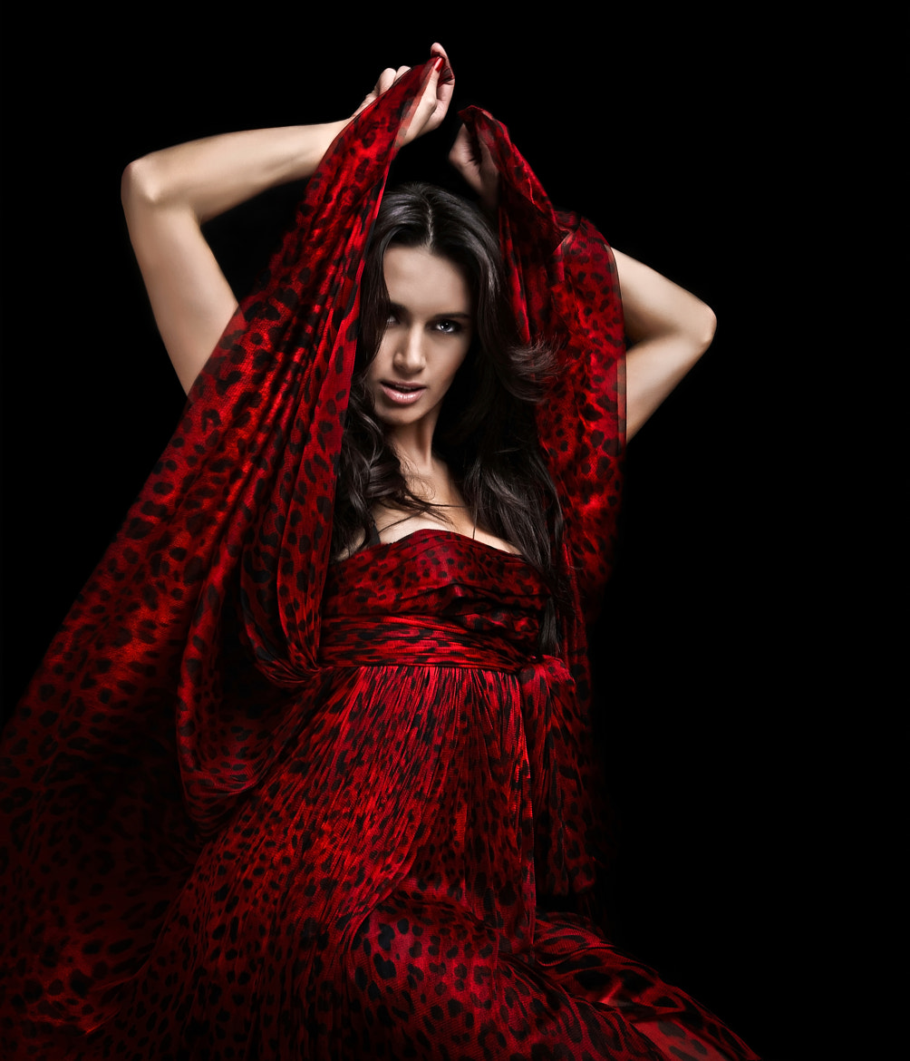 Photograph women in  red dress by Sergey Petrosov on 500px
