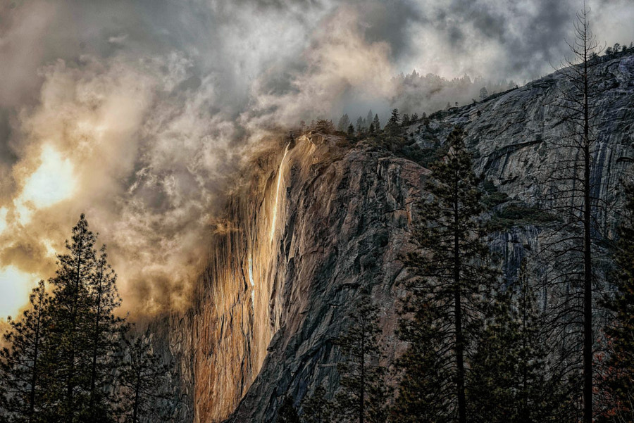 Weather Breaks On El Capitan & Horsetail Falls by Brent Clark on 500px.com
