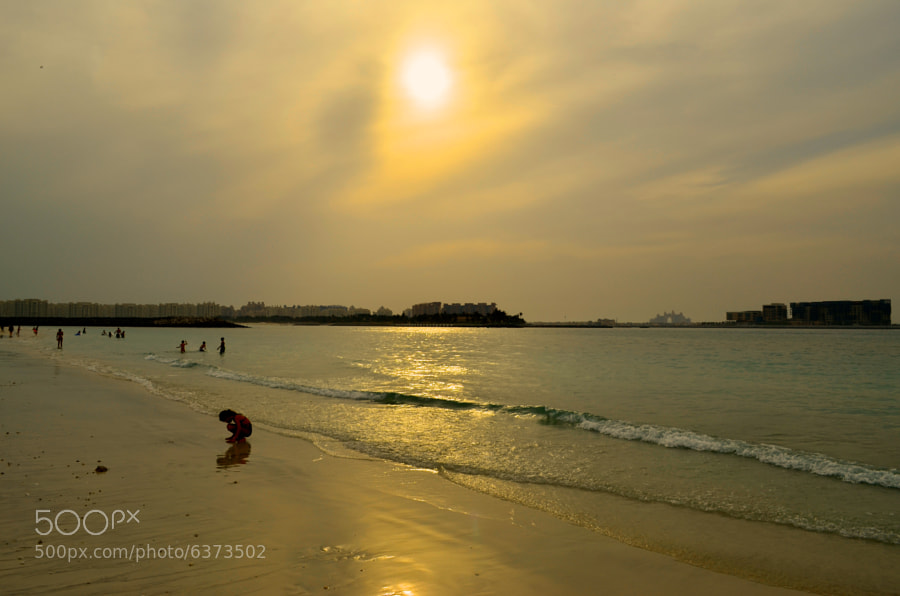Palm jumeira beach in dubai - a pleasant evening by Lijeesh Majeed (LijeeshMajeed) on 500px.com