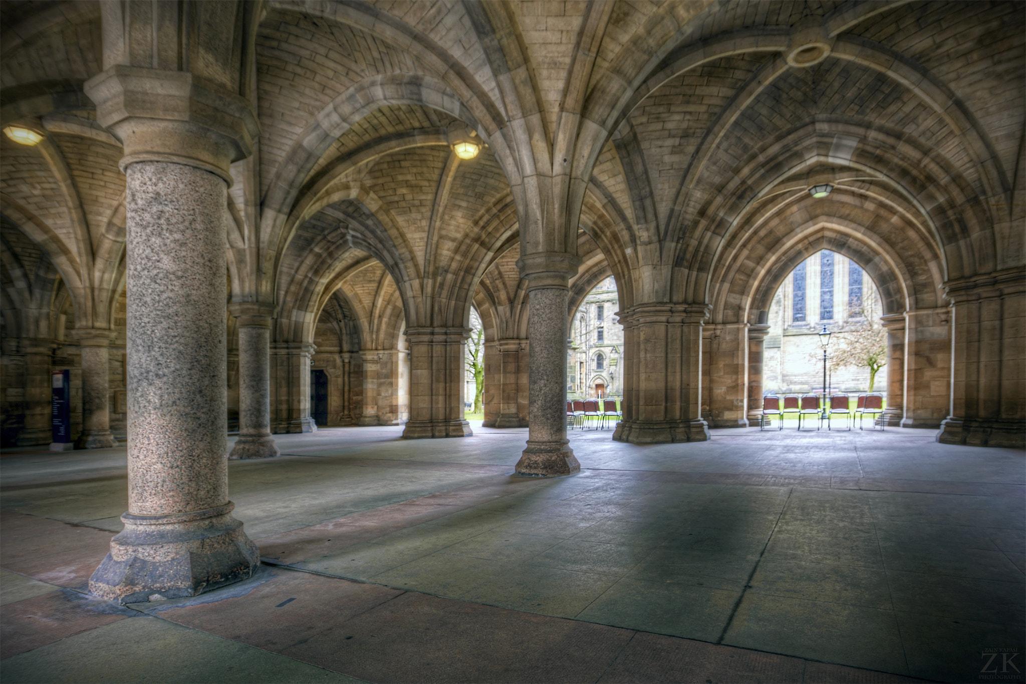 Photograph Glasgow University Cloisters - again! by Zain Kapasi on 500px