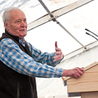 Постер, плакат: Tony Benn at Levellers Day in 2009