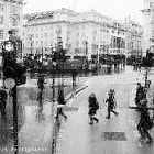 Постер, плакат: Rainy bus window