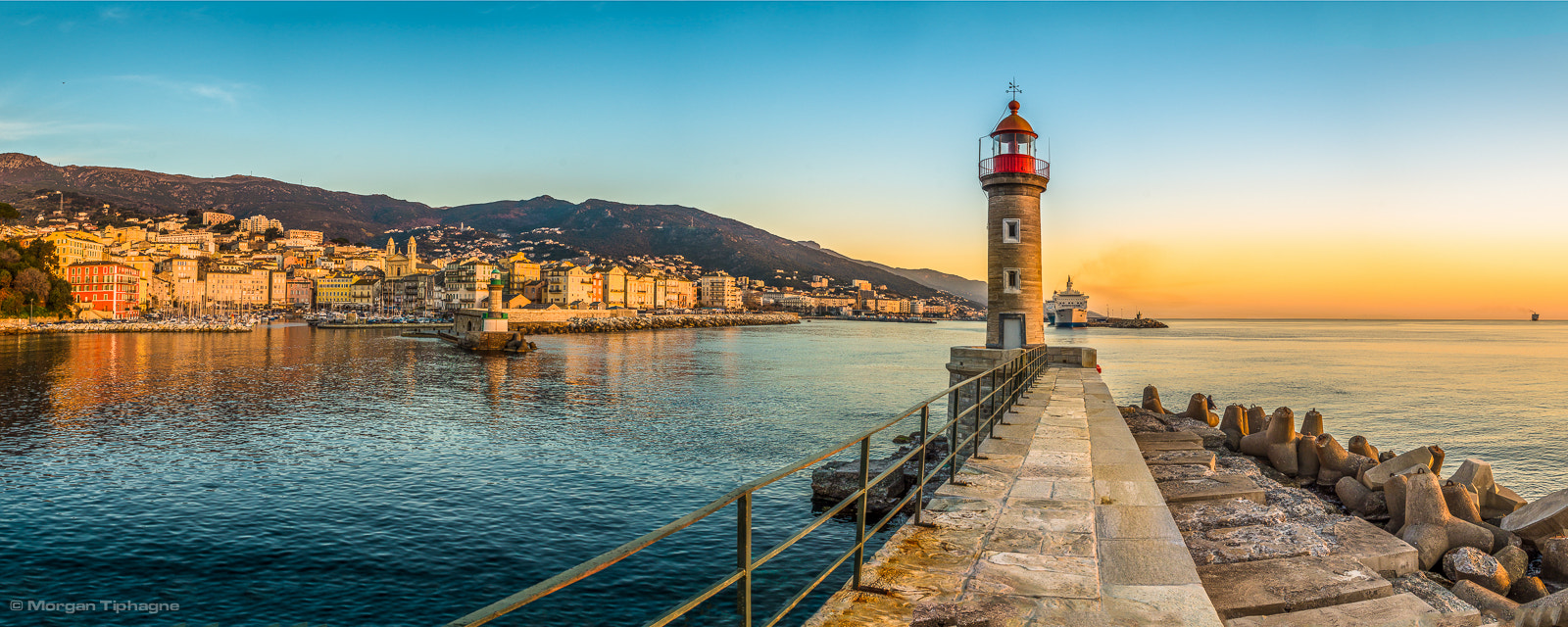 Photograph Panorama Sunrise on Bastia by Morgan Tiphagne on 500px