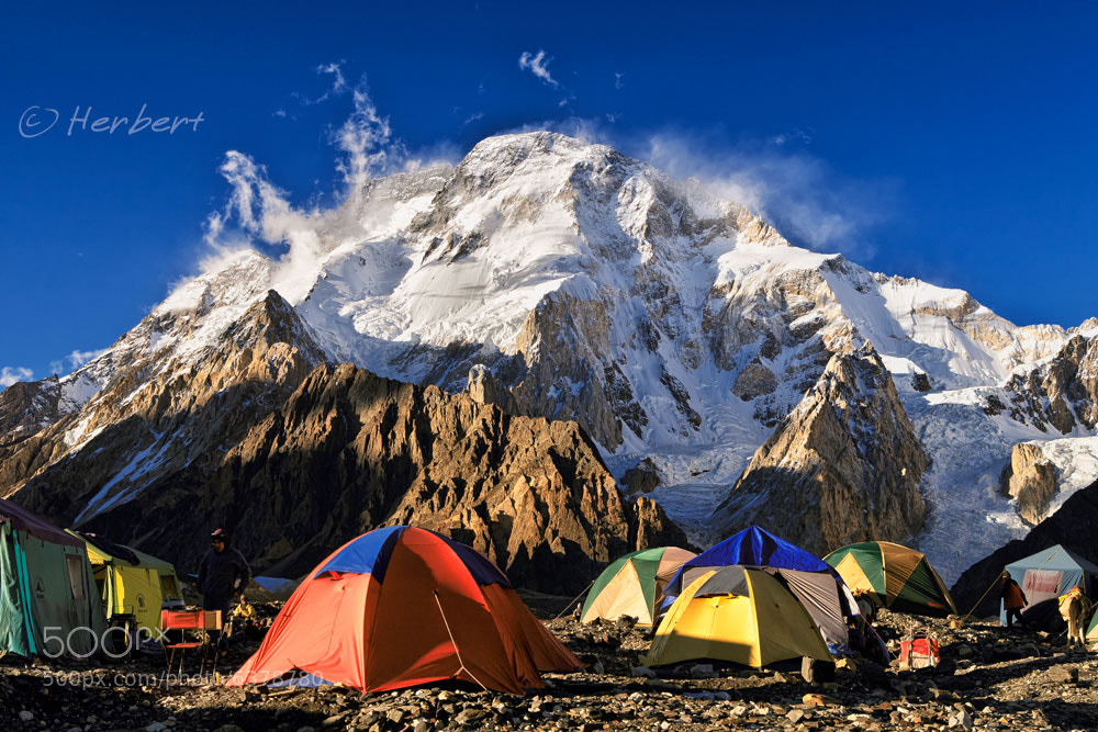 Photograph Gasherbrum (K5) camping by Herbert Wong on 500px