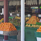 A popular fruit stand in Gilroy, California.