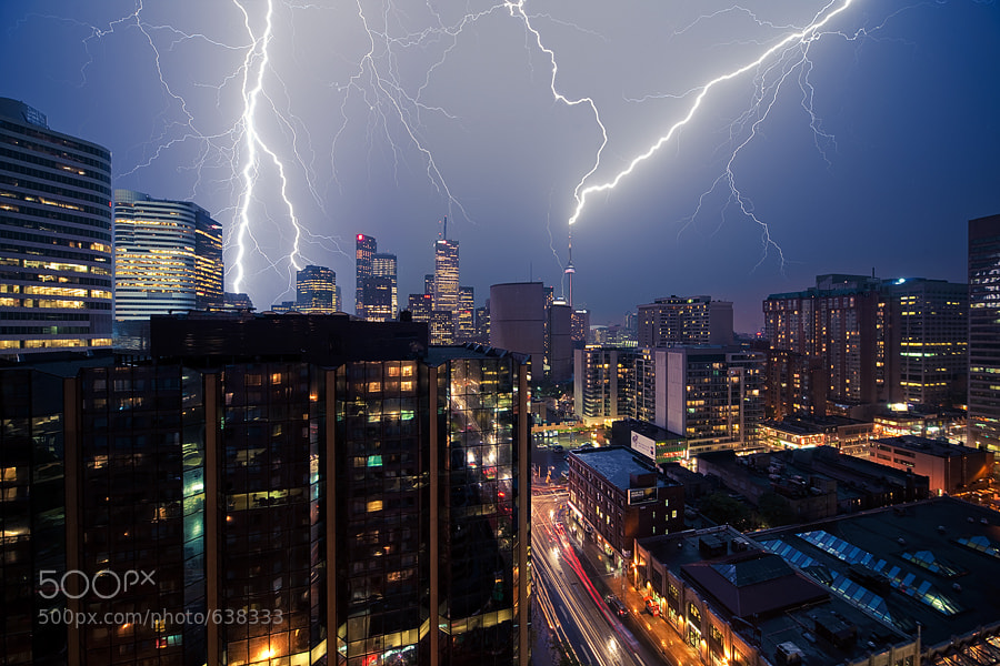 Photograph Lightning City by Sam Javanrouh on 500px