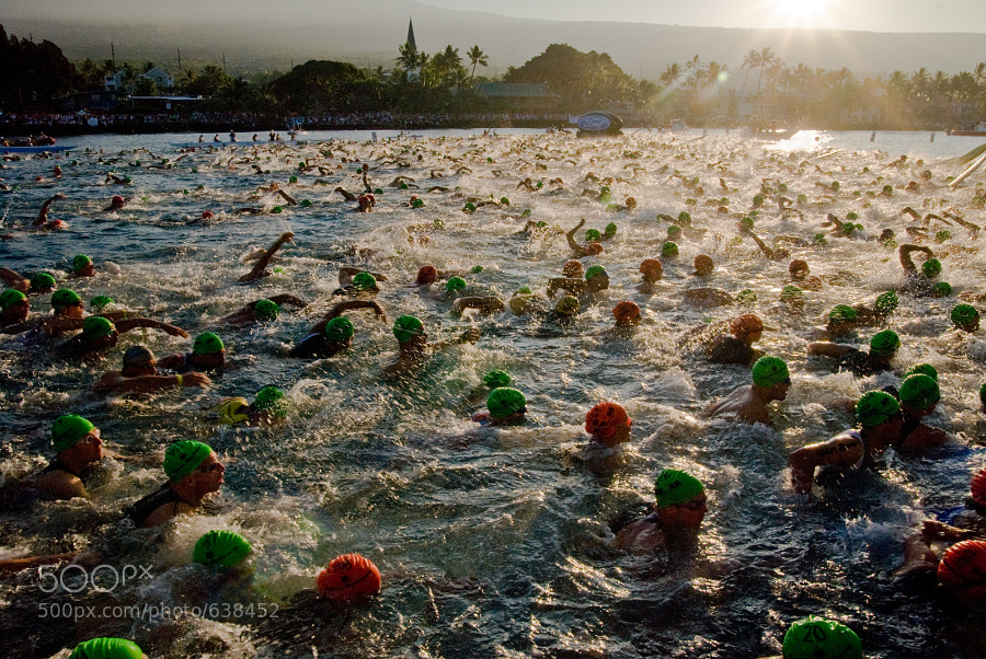 The Swim Start at the Ironman World Championships