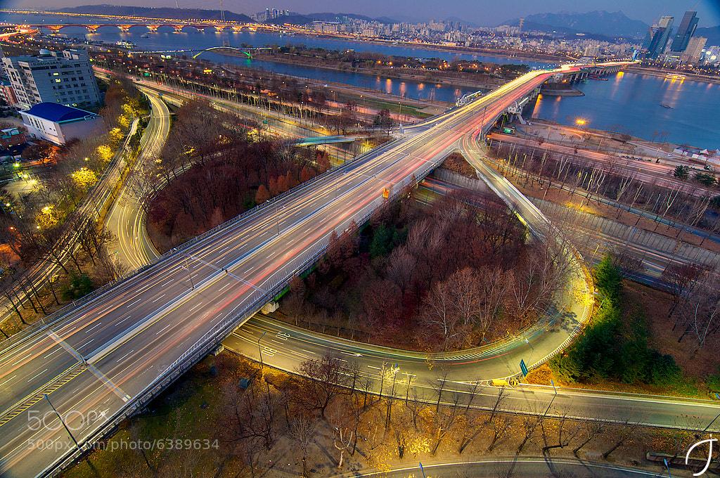 Photograph 양화대교 Yanghwa Bridge magic hour by Romain John on 500px