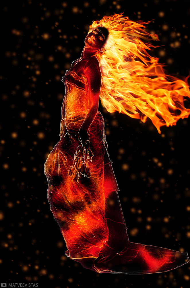 Photograph Lady Fire by Stanislav M. on 500px