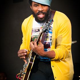 Cody ChesnuTT performing at the 2011 Ilosaarirock festival.