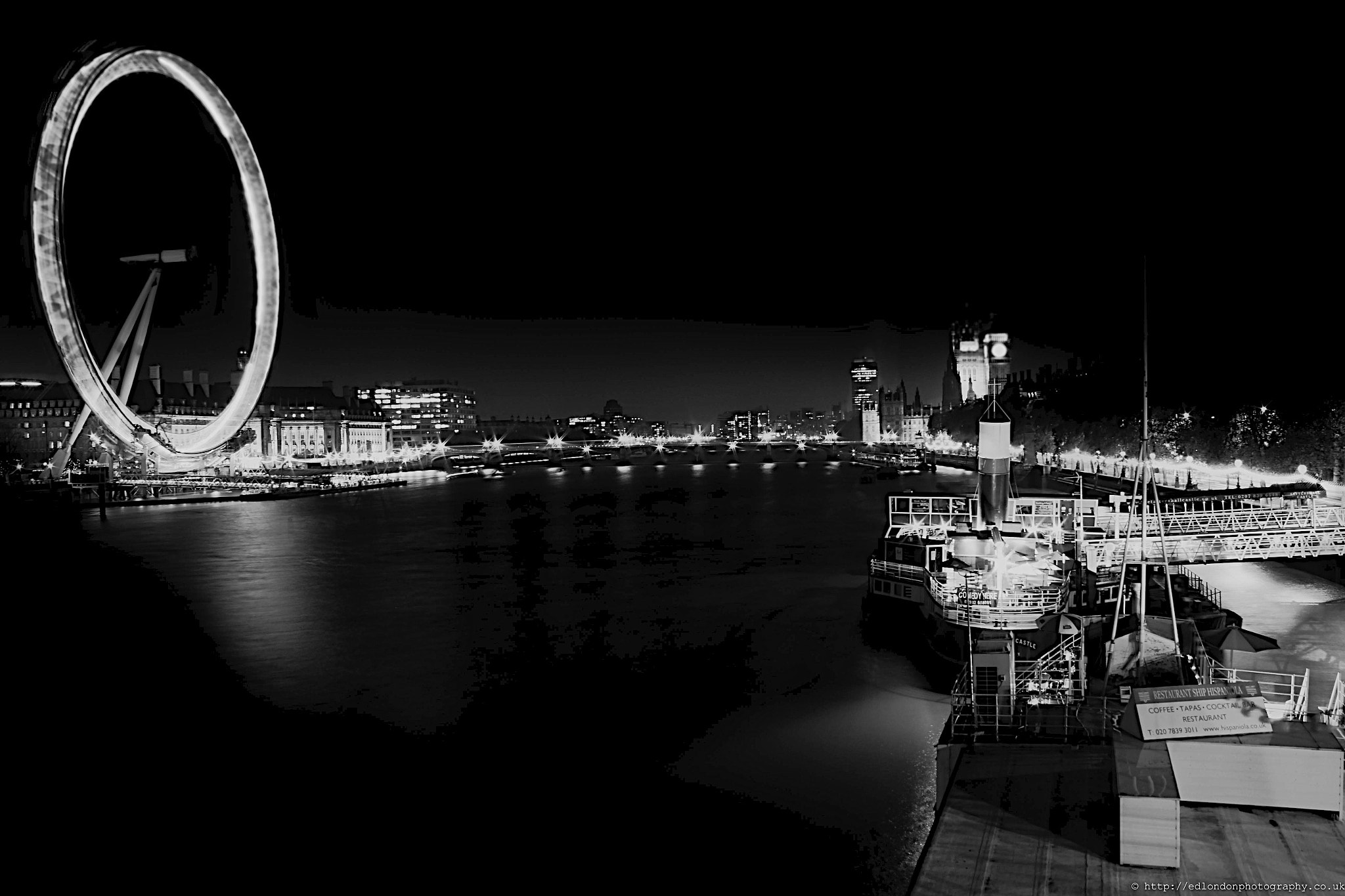 Photograph London Eye in Black & White by edo  zollo on 500px