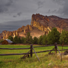 Постер, плакат: Oregen Smith Rock State Park Sunset Landscape