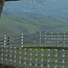 A ranch property in Gilroy, California with rolling hills in the background.