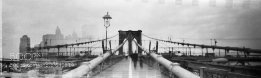 Made with a home made 35mm wide angle pinhole camera