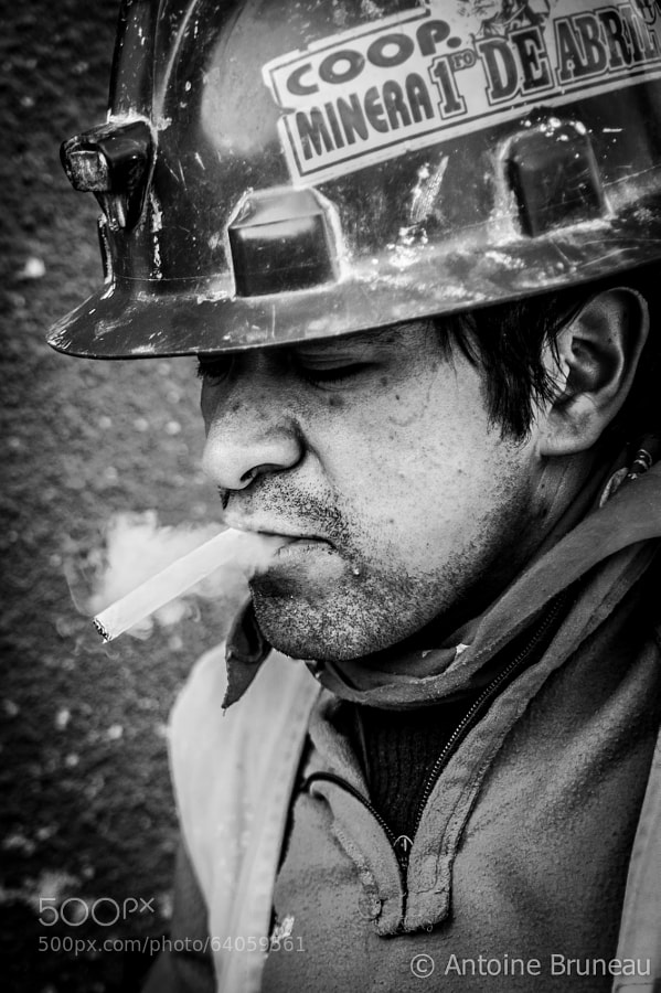 Photograph Portrait of a Bolivian Miner by Antoine BRUNEAU on 500px