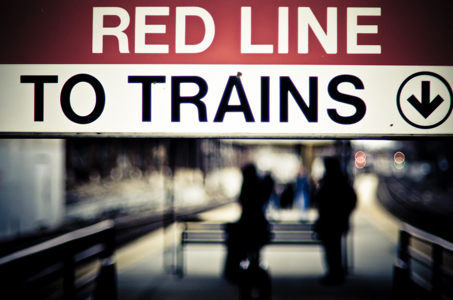Photograph Red Line Sign by Brian Burt on 500px