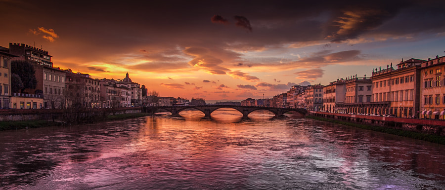 most beautiful cities in the world -Sunset in Florence. by Pedro López Batista on 500px.com