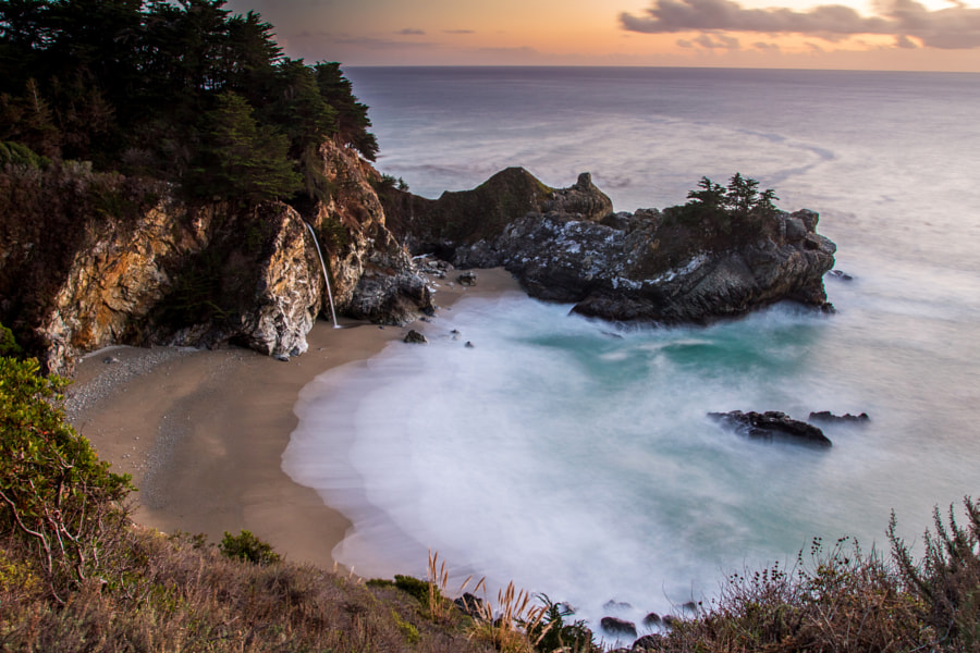 Photograph McWay Falls at Dusk by Pierre Leclerc on 500px