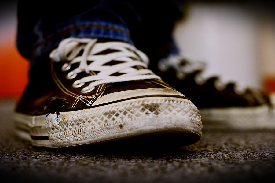Photograph My old converse by Naeem Hussain on 500px