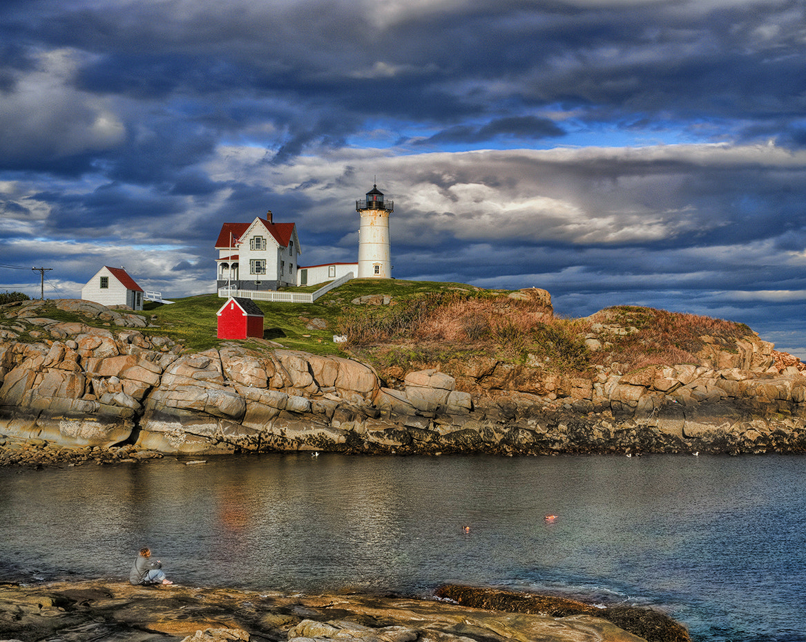 Photograph Storm Clouds, Nubble Light by Alan Borror on 500px