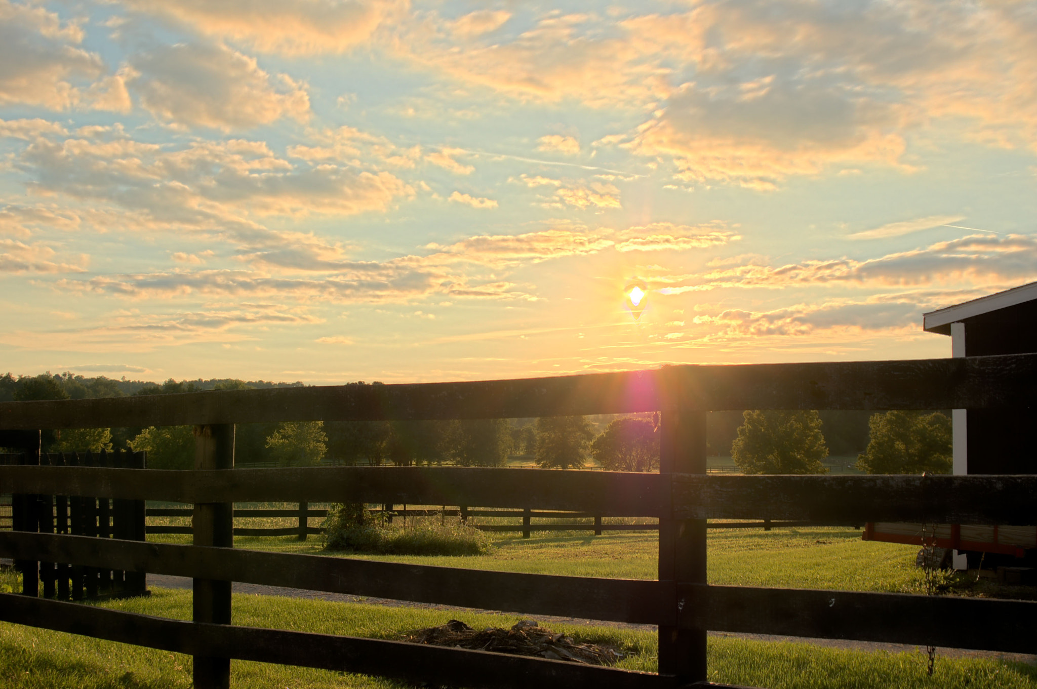 Photograph Sunset on a Horse Farm by Brian Lauer on 500px